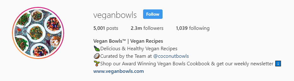instagram bio for food account