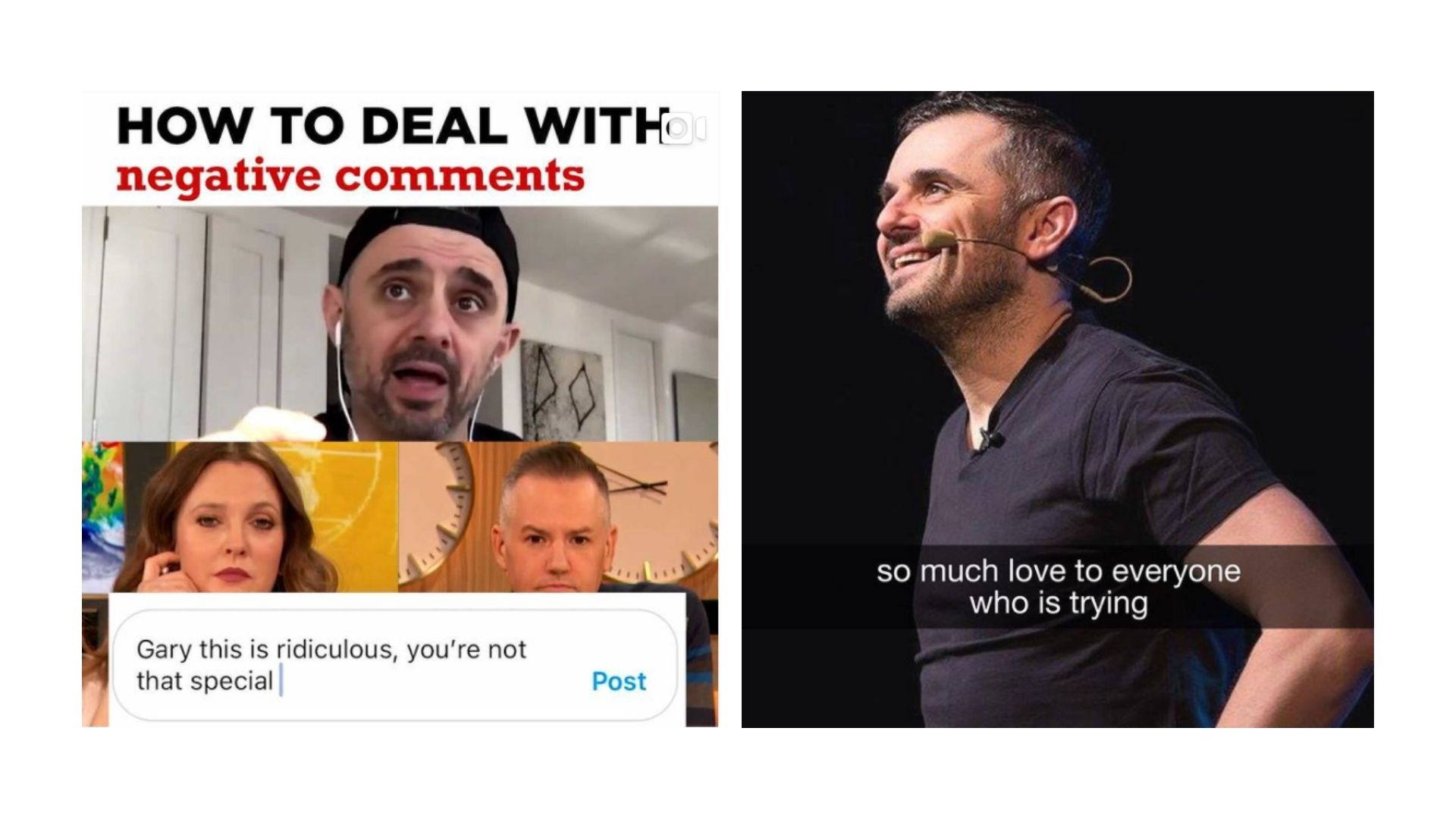 Gary Vaynerchuk - also known as Gary Vee - answers all comments on his social media accounts, no matter how negative.